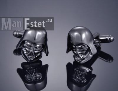Запонки из стали Darth Vader