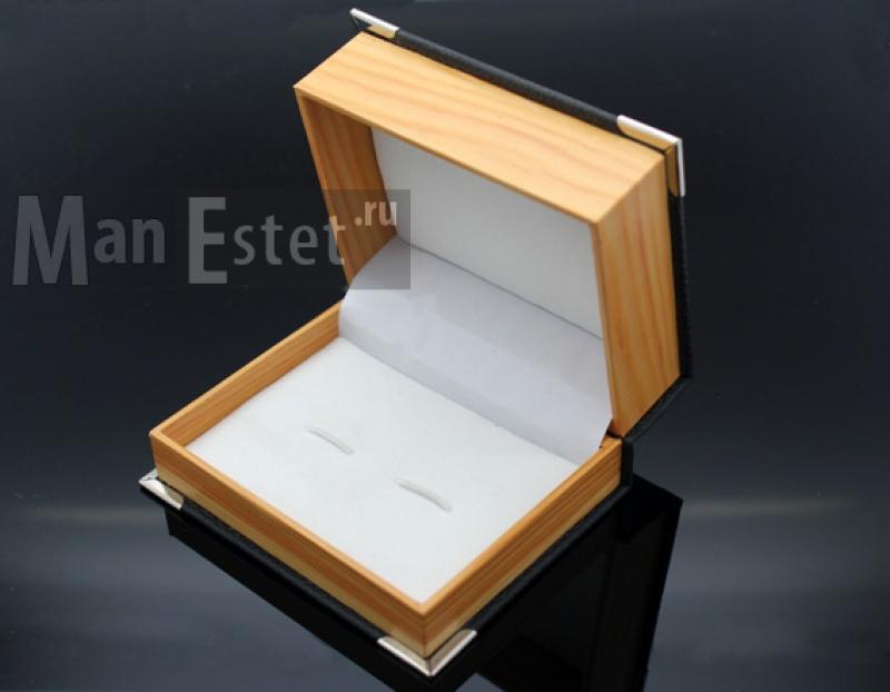 Запонки с кристаллом Marc Sant (арт.CL-5134)